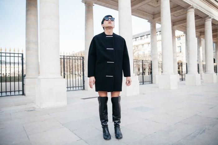 Bryanboy wearing a Balenciaga cocoon coat