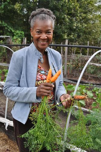 Ann Pringle Washington enjoys growing a variety of fresh vegetables on her farm. NRCS photo by Sabrenna Bryant.