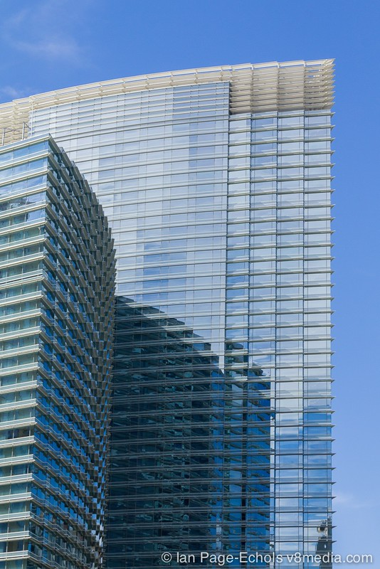 Las Vegas angular building and reflections