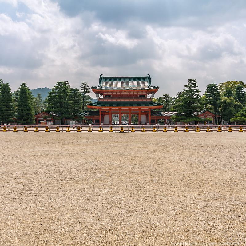 The Ôtenmon gate at the Heian Shrine