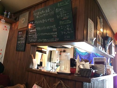 店内はすごく小さいの@まるカフェ