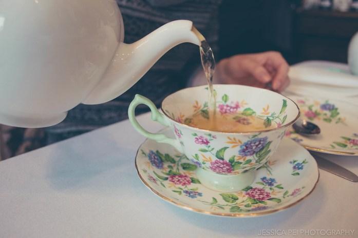 Pouring Tea at London Tea Room St. Louis