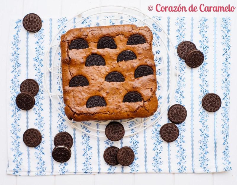 Brownie con galletas Oreo