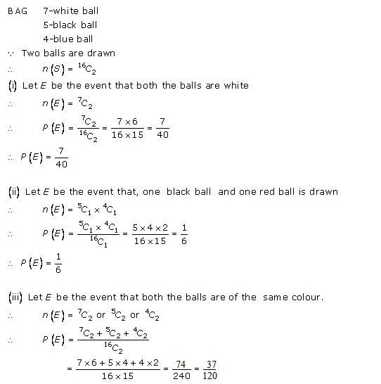RD-Sharma-class-11 Solutions-Chapter-33-Probability-Ex-33.3-Q-16 i