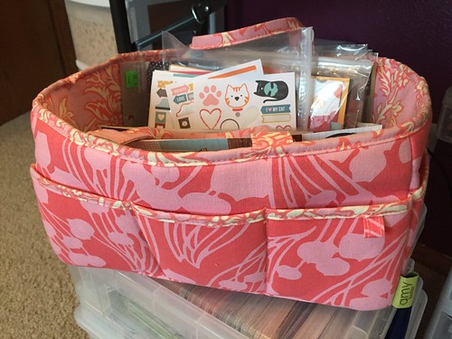 Amy Butler Lotus Tea Box Scrapbooking Tool Caddy