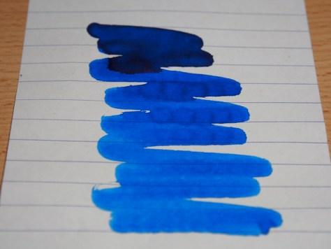 Noodler's Blue - Shading Test
