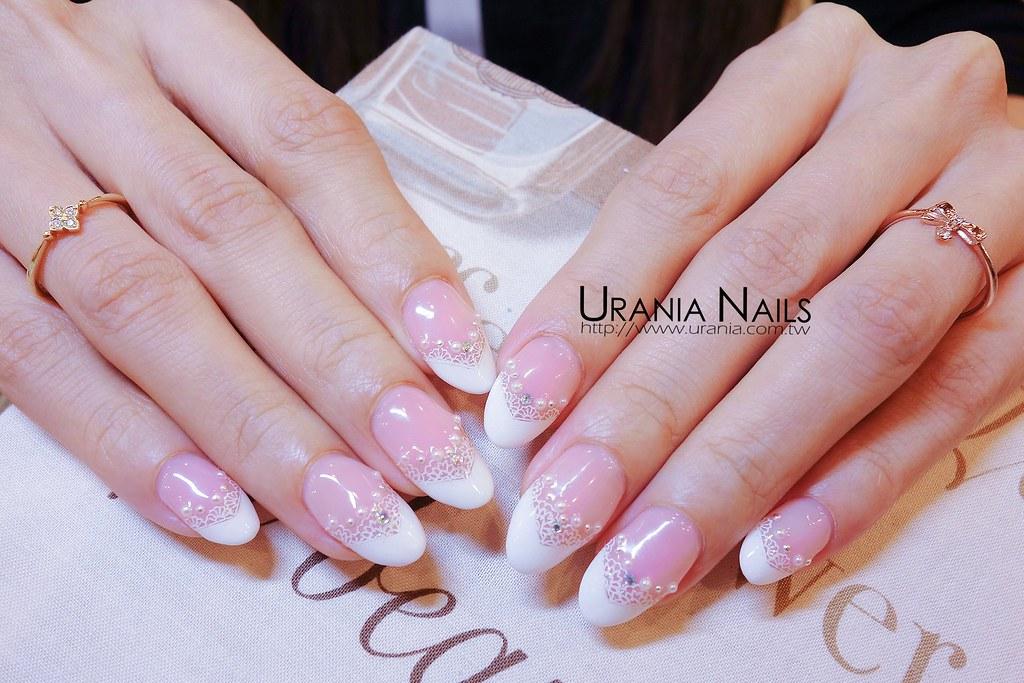 ♥ 冬天的優雅!凝膠指甲法式 2