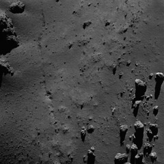 Comet 67P from a distance of 9 km