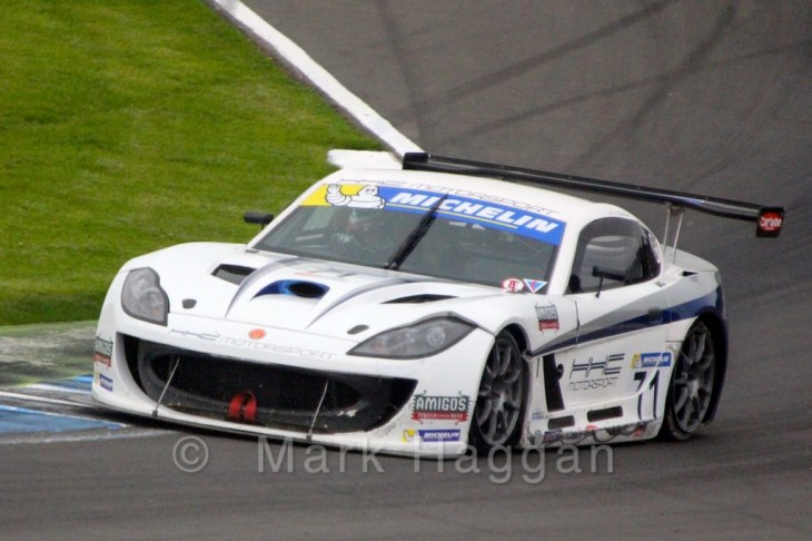 Jamie Orton in the Ginetta GT4 Supercup at Donington Park, April 2015