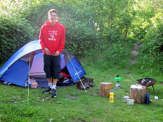 Camping at The Sustainability Centre on the South Downs Way