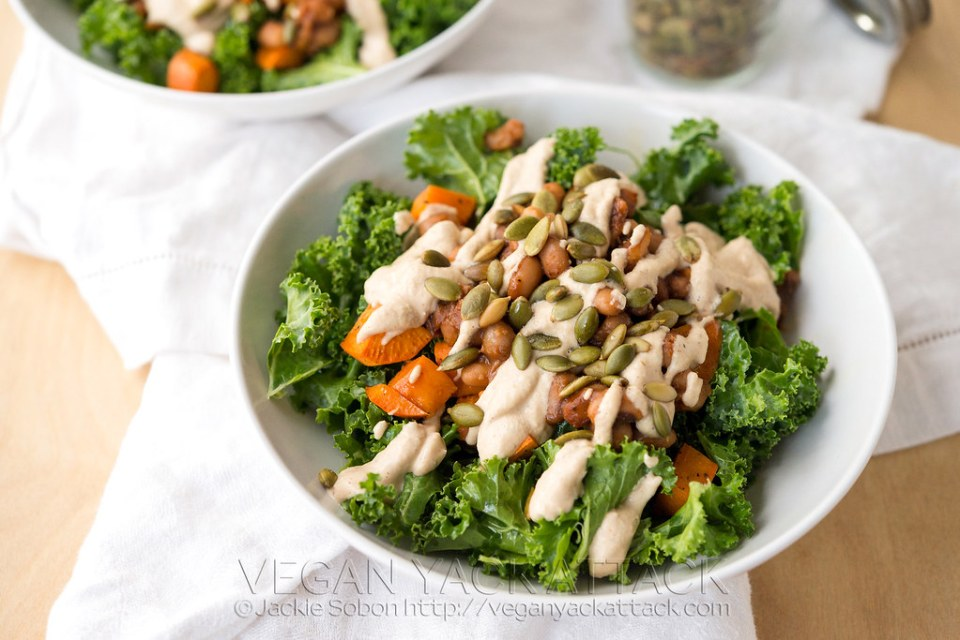 Vegan Southern Kale Salad with Smoky Ranch