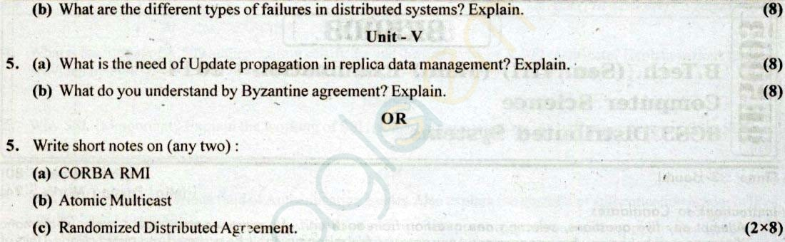 RTU: Question Papers 2014 - 8 Semester - CS - 8E5003