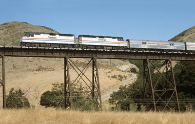 A Short Chase of Amtrak Train 14 in 1991 -- 6 Photos