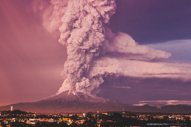 Erupción Volcán Calbuco 22/04/2015