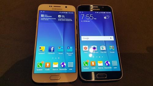 Galaxy S6 สีขาวมุกและดำ