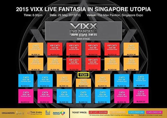 VIXX Live Fantasia Utopia in Singapore 2015 seating plan sgXCLUSIVE