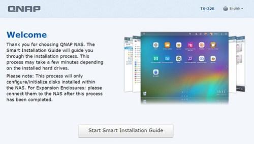 Smart Installation ของ QNAP TS-228