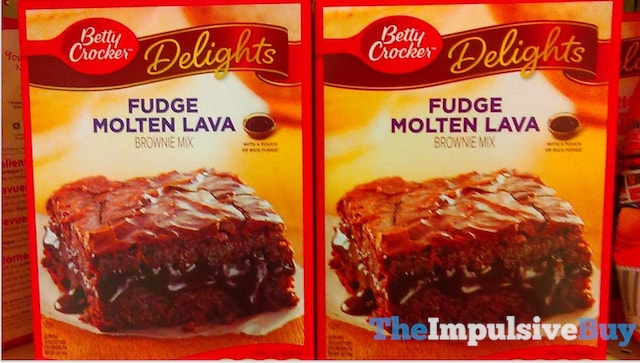 Betty Crocker Delights Fudge Molten Lava Brownie Mix