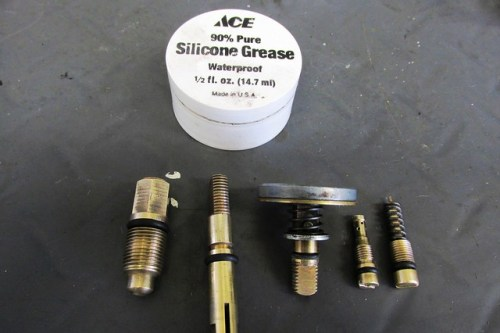 O-rings Assembled with Dab of Silicone Grease