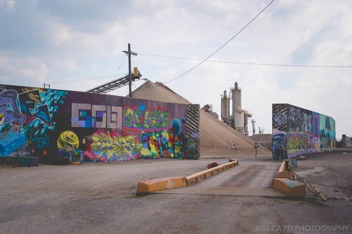 St. Louis Graffiti Wall Riverfront