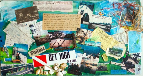 """Storyboard"" Palau, Micronesia, 1995 / mixed media collage"
