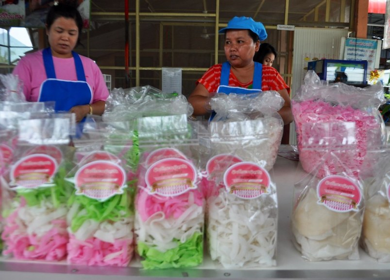 Coconut in sugar is ready for sale in Chiang Khan, Loei, Thailand.