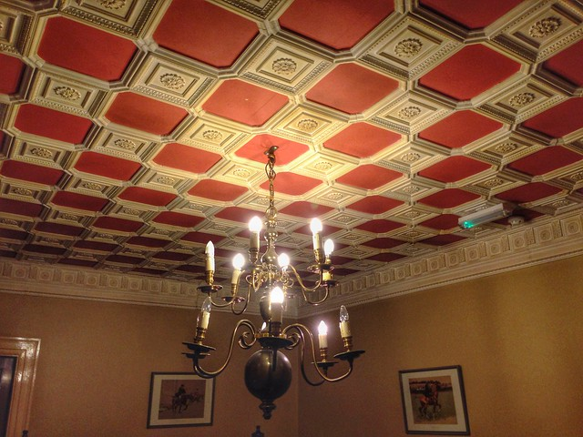 Intricate ceilings at Tullylagan Country House Hotel