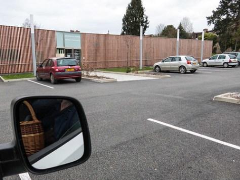 On the parking of the Maison de Sant?© (Health center)