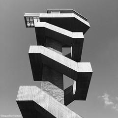 The only #way is #up #wilhelminatoren #sky #blackandwhite #blackandwhitephotography #vsco #vscocam #netherlands #ignetherlands #travel #wanderlust #travelgram #architecture #lookout #stairs