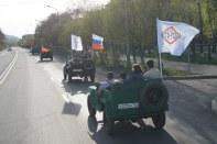 ретро-автомобили выехали на улицы Красноярска
