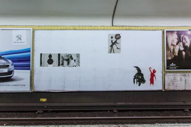 Exposición temporal en el metro de Estocolmo