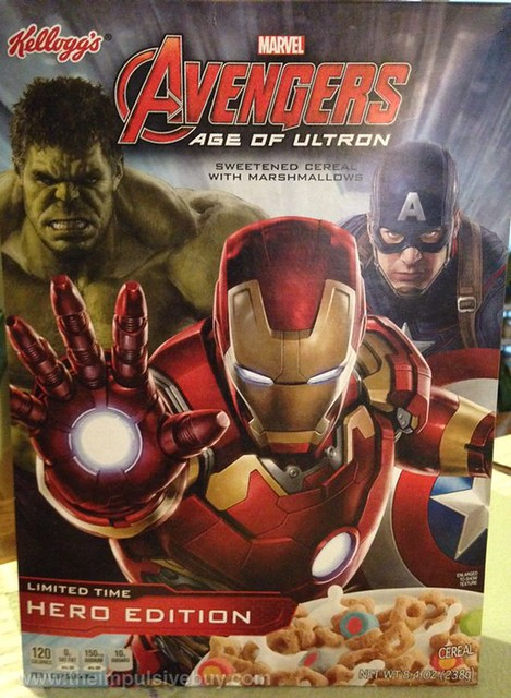 Kellogg's Limited Time Hero Edition Marvel Avengers Age of Ultron Cereal
