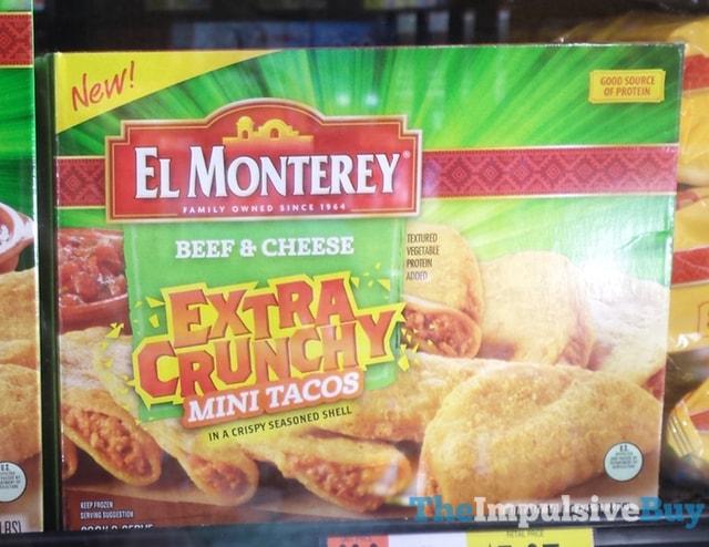 El Monterey Beef & Cheese Extra Crunchy Mini Tacos
