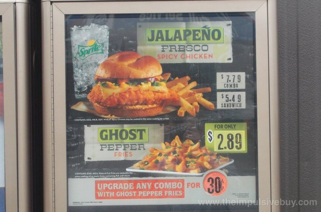 Wendy's Ghost Pepper Fries and Jalapeno Fresco Spicy Chicken