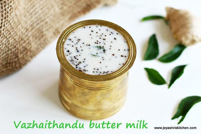 Vazhaithandu butter milk