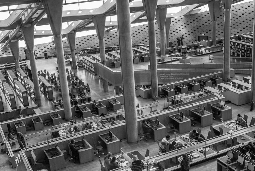 A study place: Bibliotheca Alexandrina.