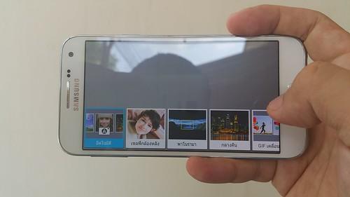 User Interface กล้อง Samsung Galaxy E5