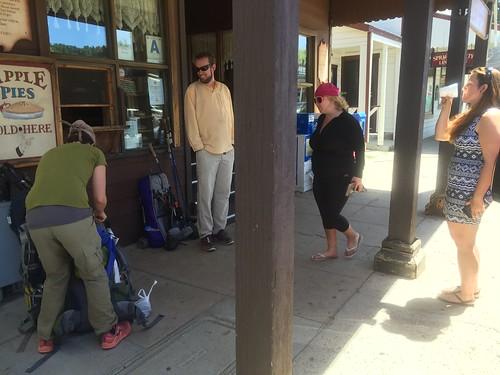 Hiker reunions in Julian