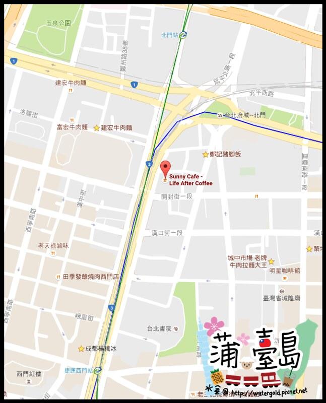 Sunny Cafe Map