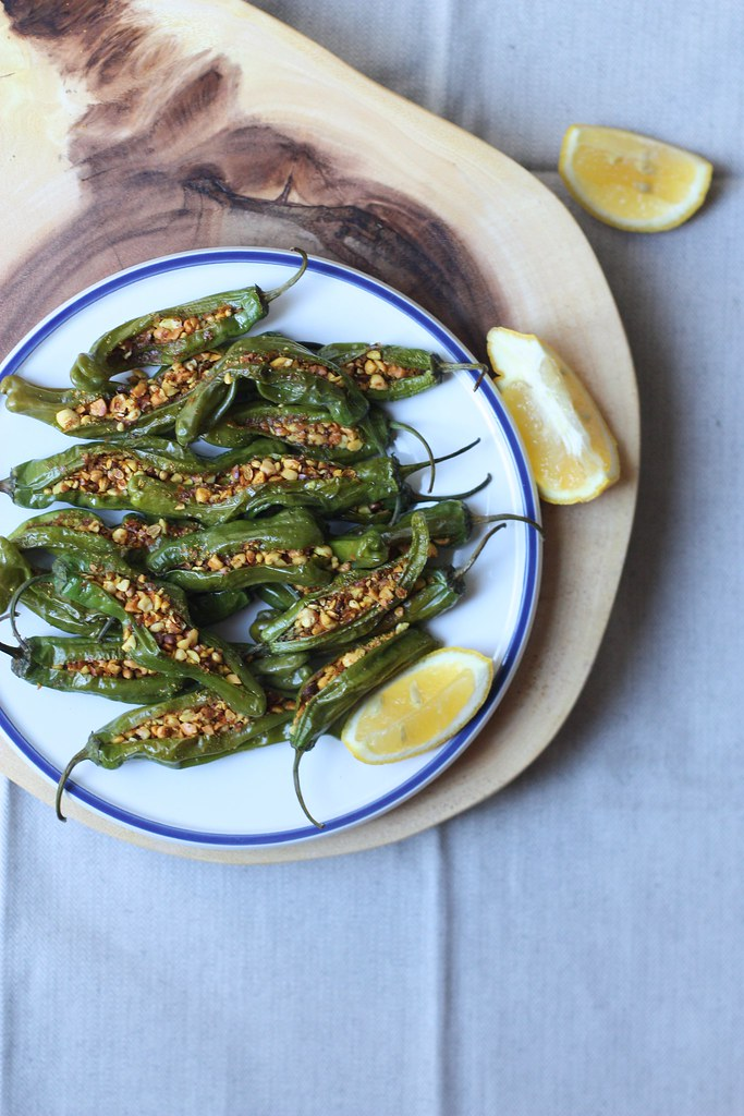 Peanut and Spice Filled Peppers