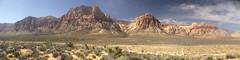 Red Rock Canyon near Las Vegas earlier today.