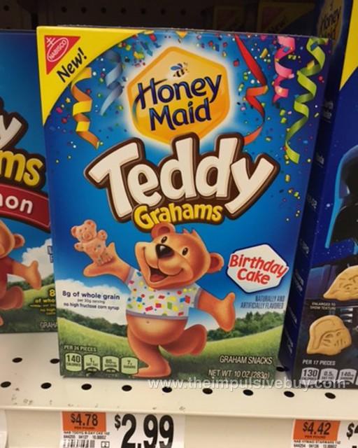 Nabisco Honey Maid Birthday Cake Teddy Grahams