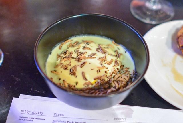 Scallion Bottom Soup, Aerated Cheddar