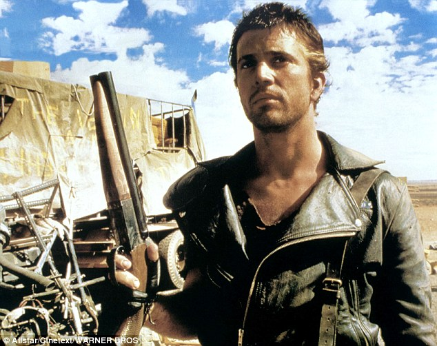 A young Mel Gibson as the leather-clad Mad Max, in 1979. (Credit: Warner Bros Pictures)
