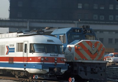 A Turbotrain and a MILW Commuter, CUS North Leads