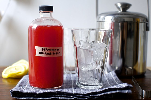 strawberry rhubarb soda syrup