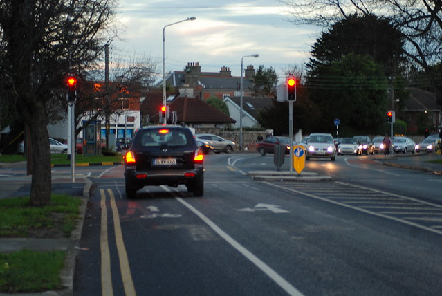 Cycle lane on Luas - UCD - Dart route