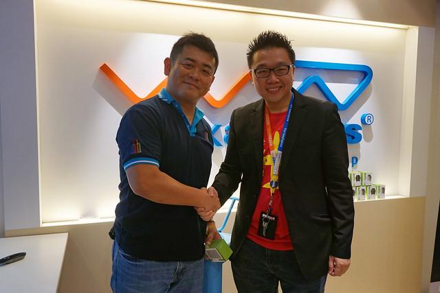 Mr Daisuke Maeda and Chan Kee Siak
