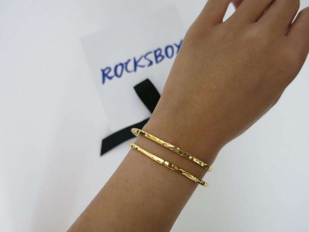Gorjana Taner Cuff gold Rocksbox free month