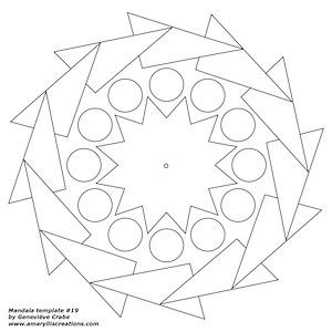 Mandala template 19